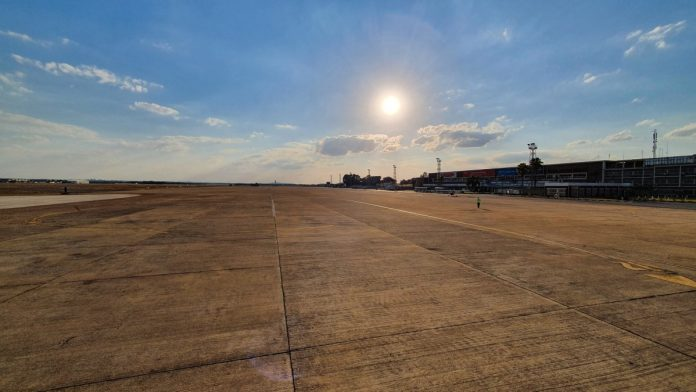 Empty airport at Lusaka, Zambia, due to COVID-19